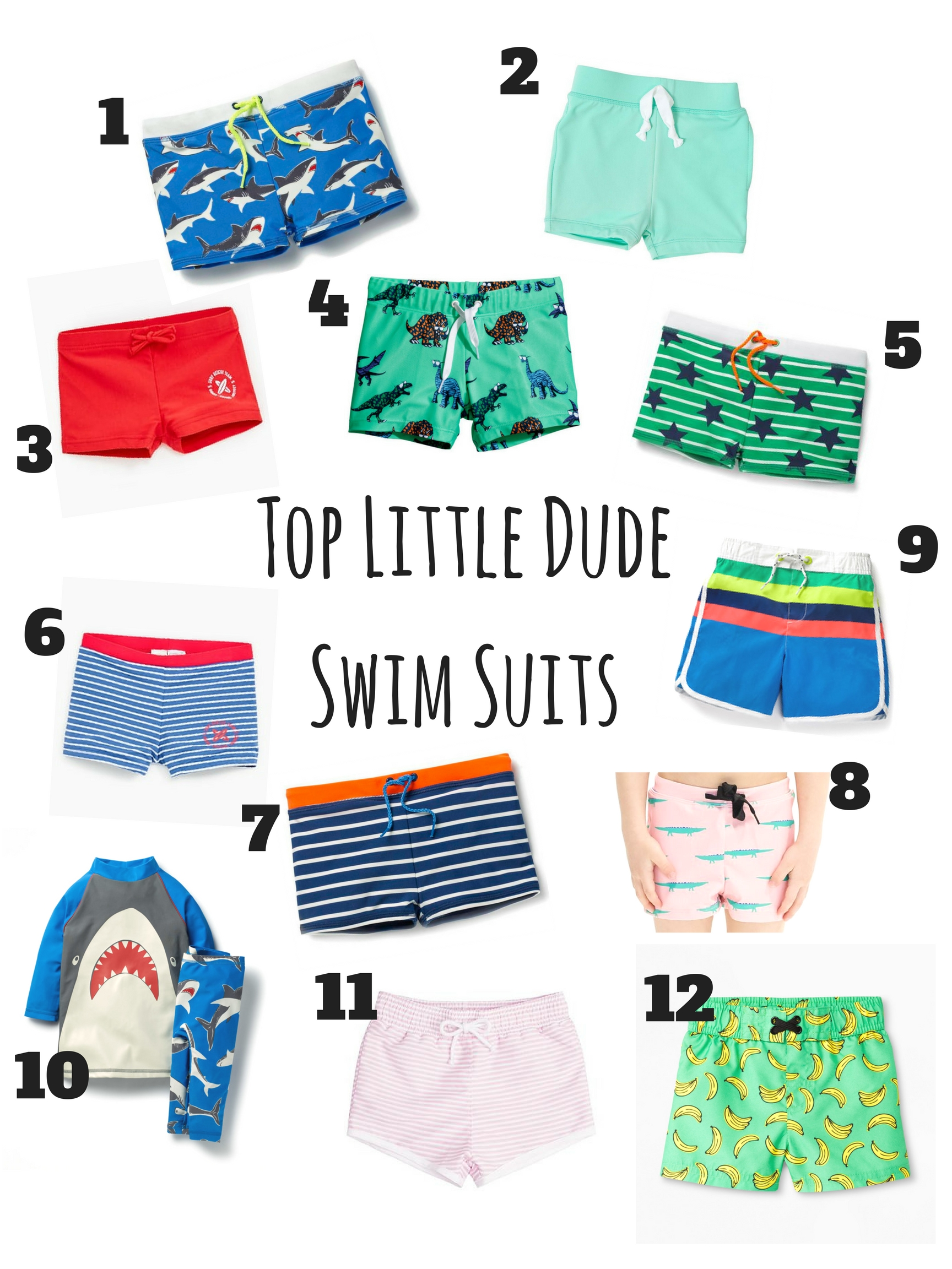 Top Swim Suits for Little Boys