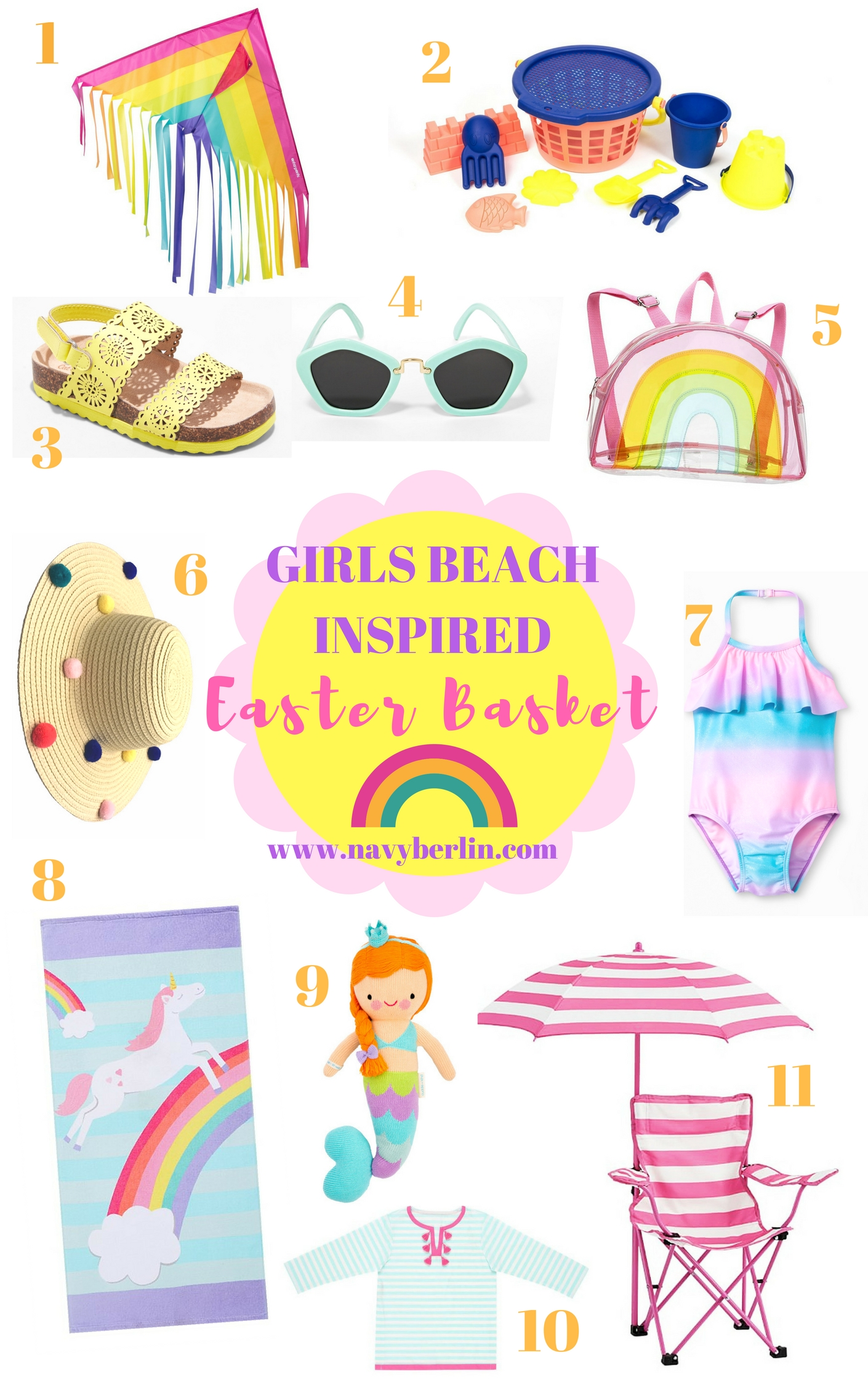 Girls Easter Basket – Beach Inspired