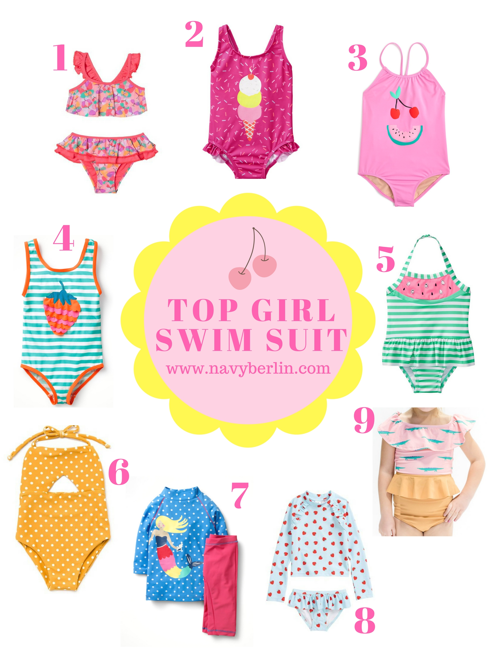 Top Favorite Girl Swim Suits