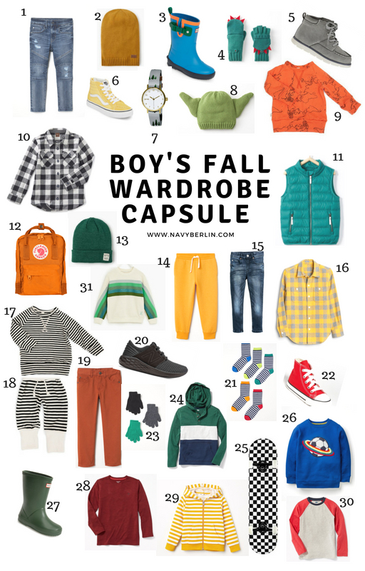 Boy's Fall Wardrobe Capsule
