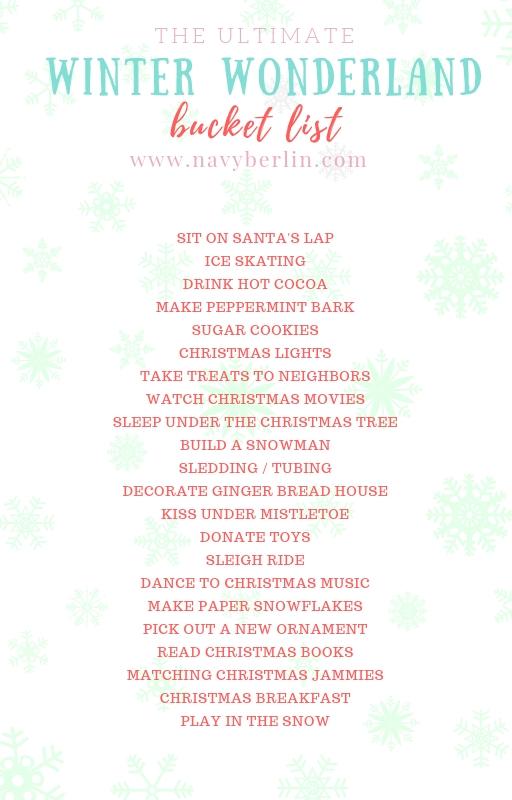 The Ultimate Winter Wonderland Bucket List