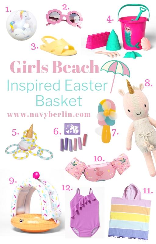 Girls Beach Inspired Easter Basket