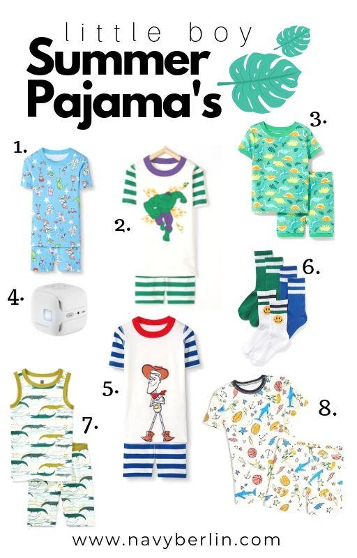 Little Boy Summer Pajama's