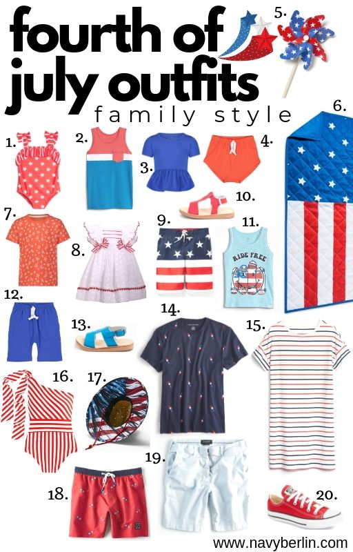 Fourth Of July Familly Outfits