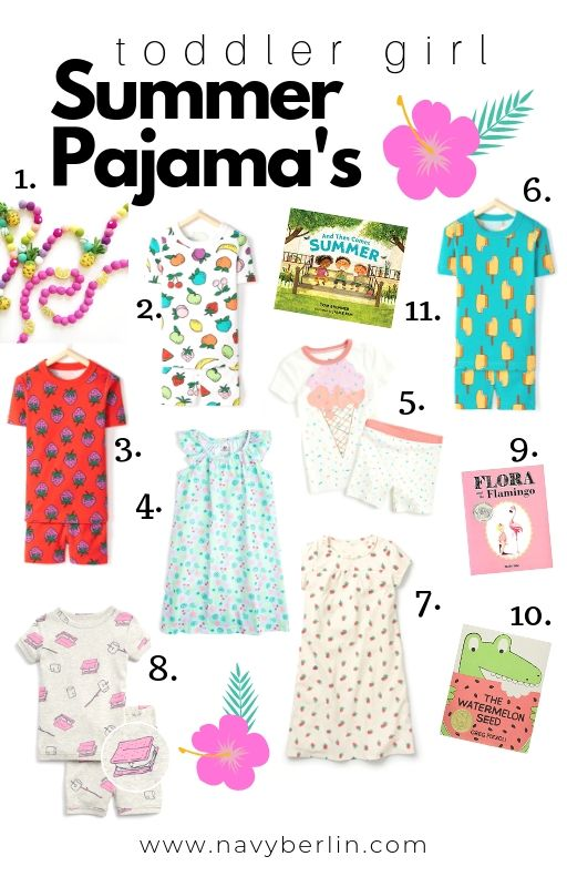 Toddler Girl Summer Pajama's