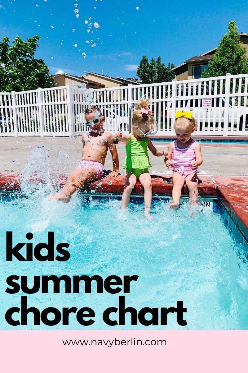 Kids Summer Chore Chart
