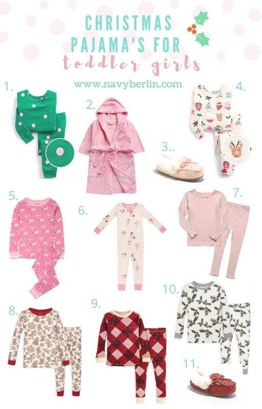 Christmas Pajama's for Toddler Girls