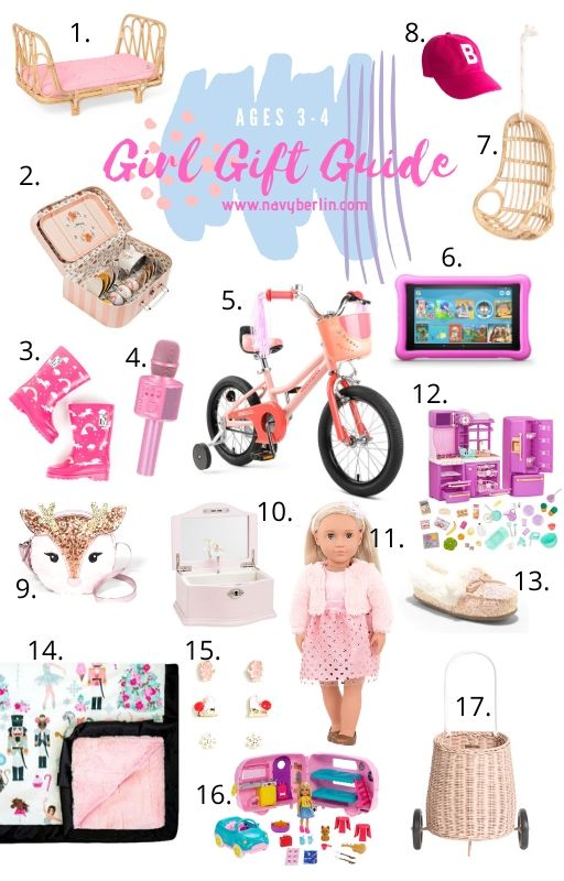 Girl Gift Guide for ages 3-4