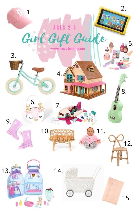 Toddler Girl Gift Guide for ages 2-3