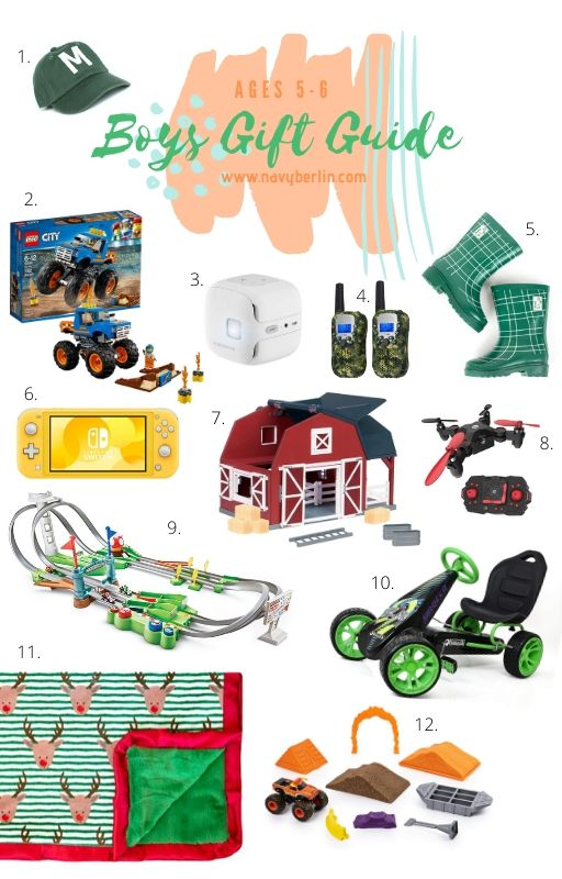 Boys Gift Guide for ages 5-6