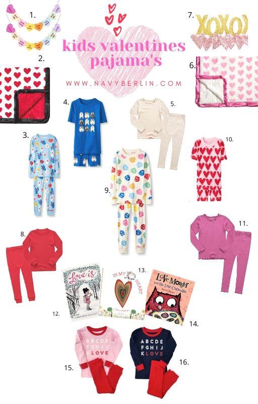 Kids Valentines Pajama's