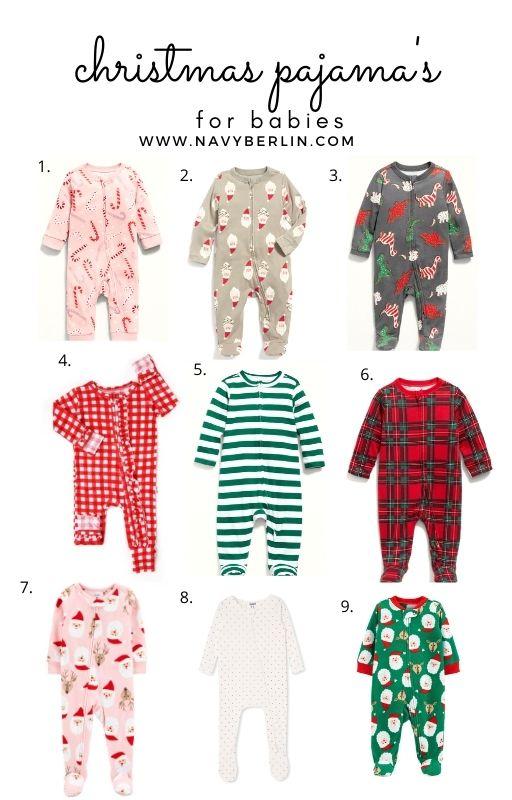 Favorite Baby Christmas Pajama's