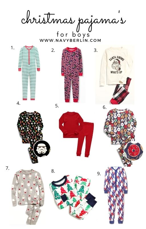 Favorite Boy Christmas Pajama's